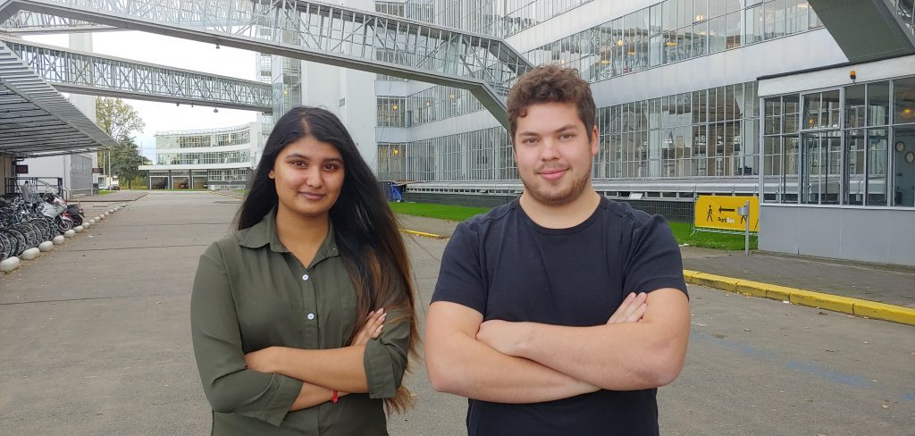 Chandenie Awadhpersad and Wouter Naloop, the newest members of the Teqplay Team.